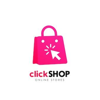 Winkel logo pictogram ontwerp. online winkel logo ontwerpsjabloon