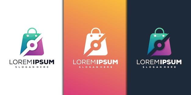 Winkel met digitaal logo-ontwerp