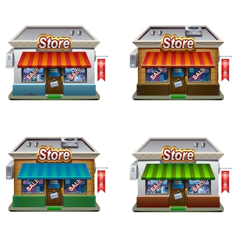Winkel set pictogrammen. winkel iconen collectie