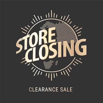 Winkel sluiten verkoop, banner
