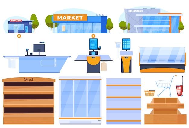 Winkel, supermarkt, minimarkt.