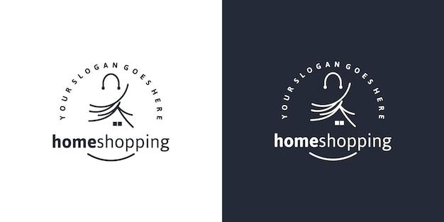 Winkel, winkelen, markt, creatief logo voor bedrijven
