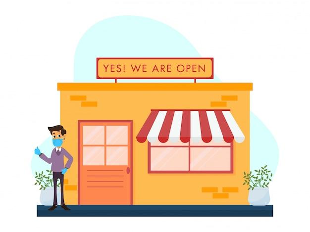 Winkel, winkels heropeningsconcept na pandemie.