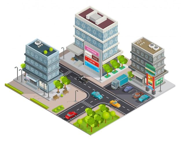 Winkelcentrum gebouwencomplex