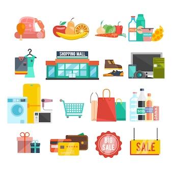 Winkelcentrum pictogrammen