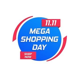 Winkeldag grote verkoop poster flyer speciale aanbieding opruiming zakelijke promoties beste deal badge