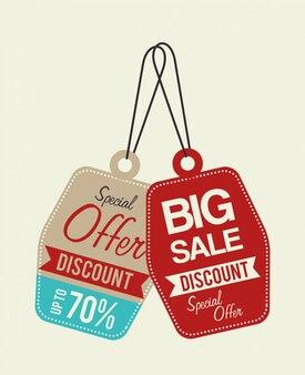 Winkelen aanbiedingen en verkoop