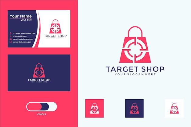 Winkelen doel logo ontwerp visitekaartje