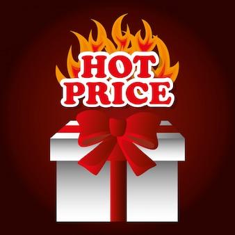 Winkelen hete prijzen thema