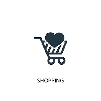 Winkelen icoon. eenvoudige elementenillustratie. winkelen symbool conceptontwerp. kan gebruikt worden voor web en mobiel.