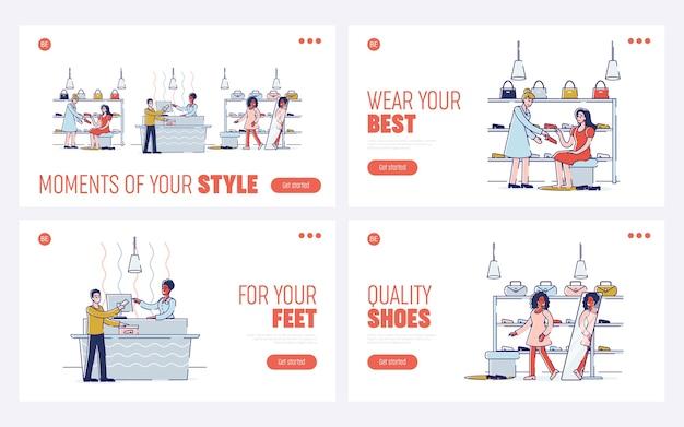 Winkelen in schoenen en accessoires winkel