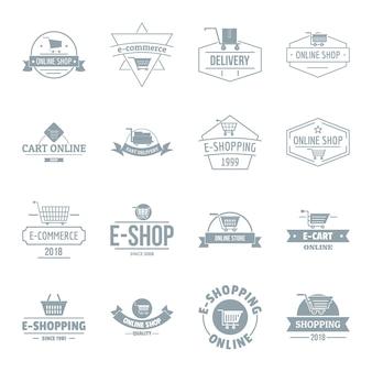 Winkelen logo iconen set