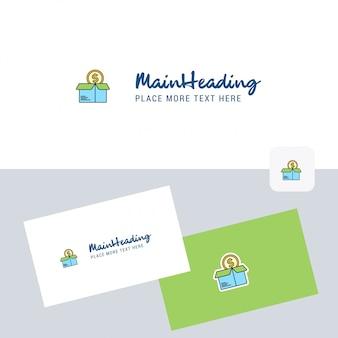 Winkelen logo met sjabloon voor visitekaartjes.