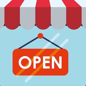 Winkelen markt winkel winkel pictogramserie