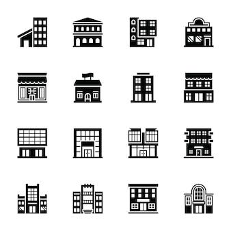Winkelen marts glyph vector icons