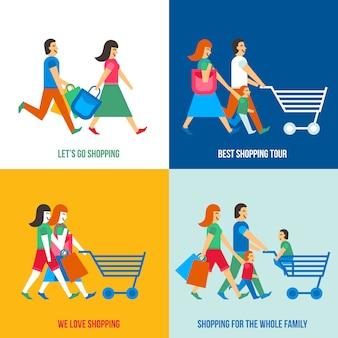 Winkelen mensen concept