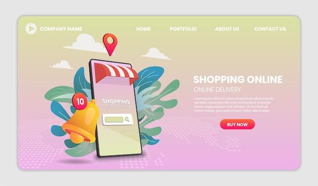Winkelen online bestemmingspagina