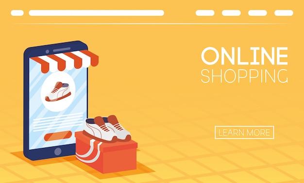 Winkelen online tech in smartphone