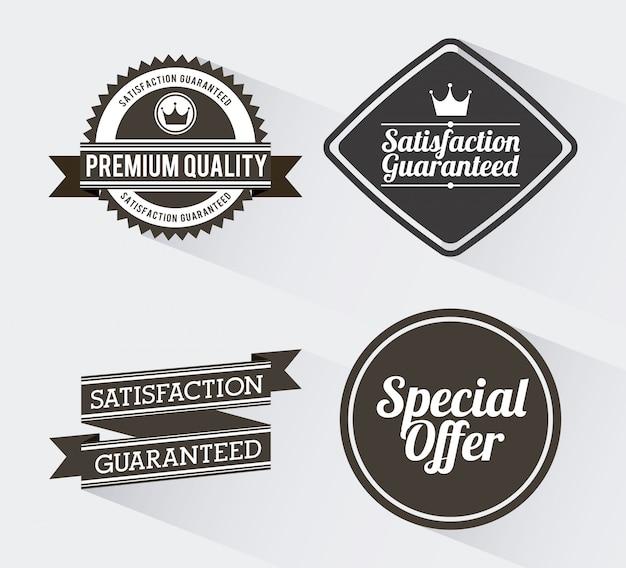 Winkelen ontwerp over witte achtergrond vectorillustratie