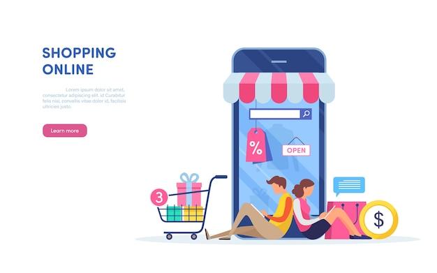 Winkelen op mobiel.