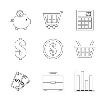 Winkelen pictogram ontwerp