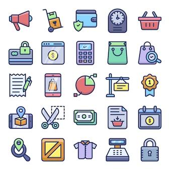 Winkelen pictogrammen pack
