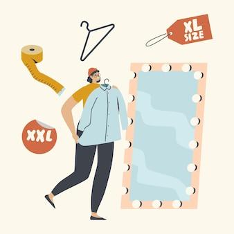 Winkelen vrije tijd illustratie set