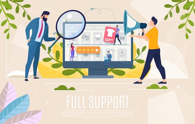 Winkelklanten ondersteunen webbanner