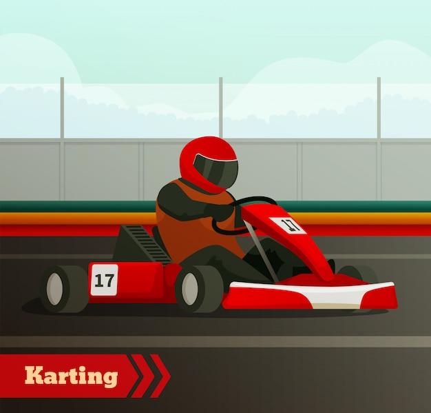 Winkelwagen race platte achtergrond