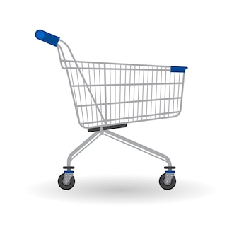 Winkelwagen trolley grote verkoopbanner