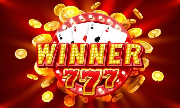 Winnaar casino munt geldautomaat speel nu vector