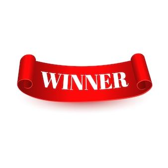 Winnaar tags of scroll banner