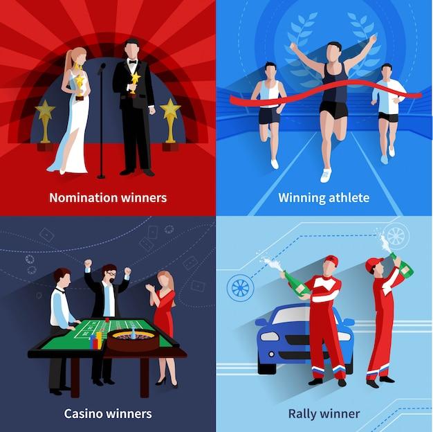 Winnaars en awards pictogrammen instellen