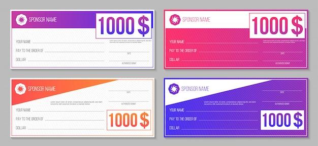 Winnende cheque voor betalingsevenement