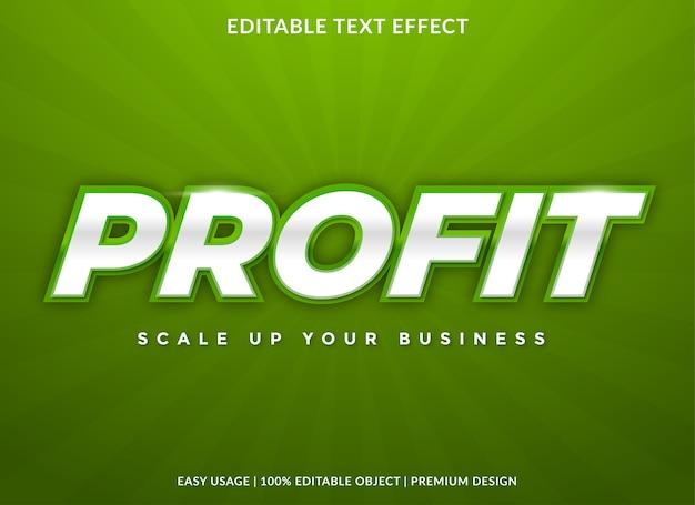 Winst teksteffect sjabloon premium stijl