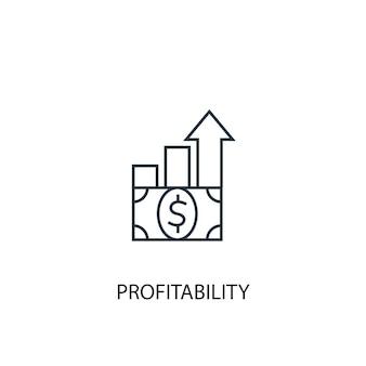 Winstgevendheid concept lijn icoon. eenvoudige elementenillustratie. winstgevendheid concept schets symbool ontwerp. kan worden gebruikt voor web- en mobiele ui/ux