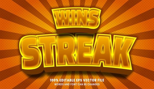 Wint streak 3d bewerkbaar tekststijleffect