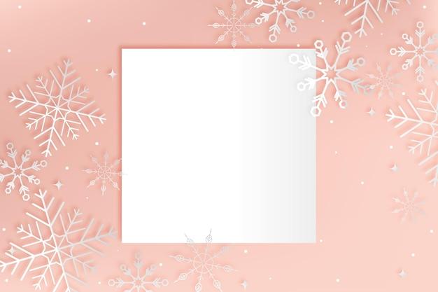 Winter achtergrond in papier stijl kopie ruimte