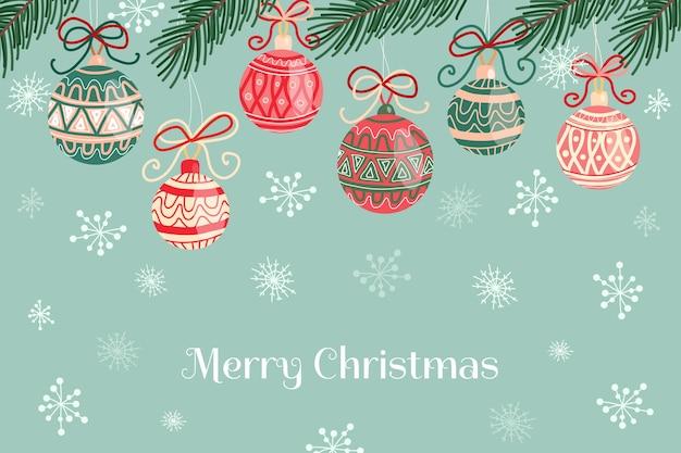 Winter achtergrond met ornamenten