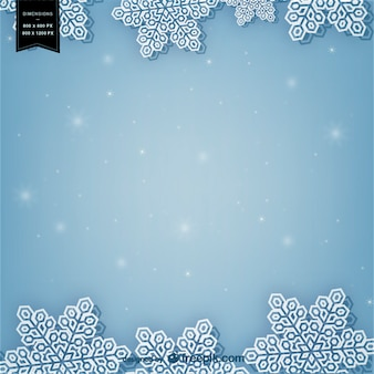 Winter achtergrond met witte sneeuwvlokken