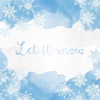 Winter achtergrond ontwerp