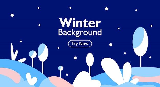 Winter achtergrond voor web baner en interface