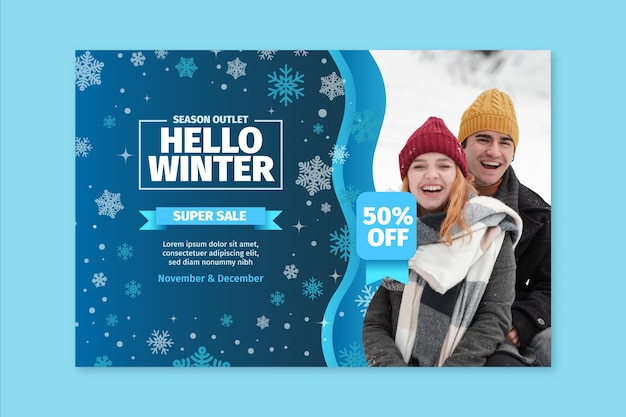 Winter banner concept
