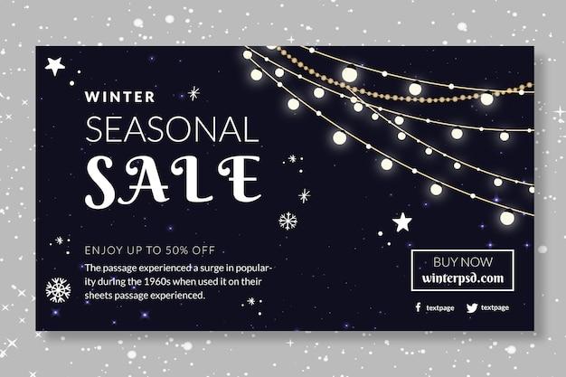 Winter banner seizoensgebonden verkoop