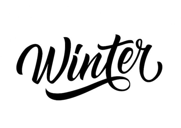 Winter belettering