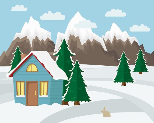 Winter berglandschap