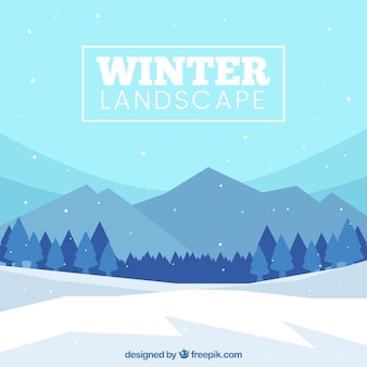 Winter besneeuwde landschap-achtergrond