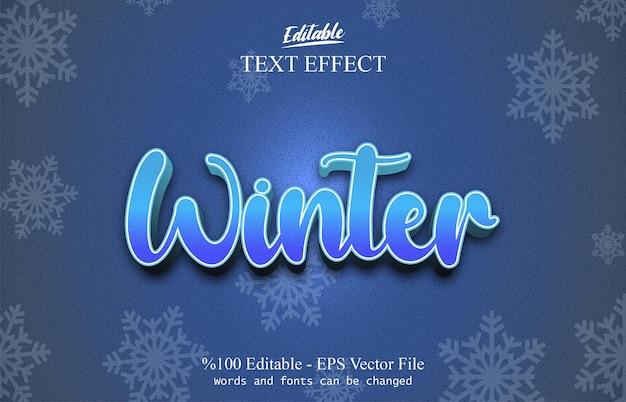 Winter bewerkbaar teksteffect