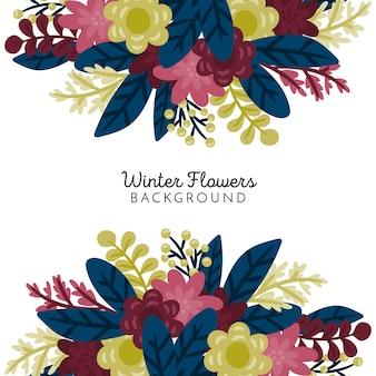 Winter bloemen achtergrond