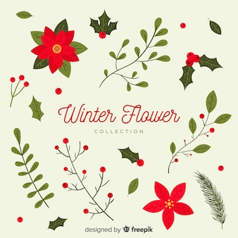 Winter bloemen collectie